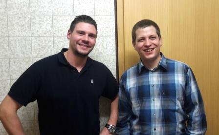 Die zwei Jugendbeauftragten der Gemeinde: Alexander Kropf (links) und Wolfgang Knappe (rechts)