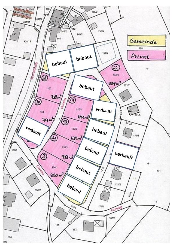 Sonniges Baugebiet Flurweg, Stand Januar 2021