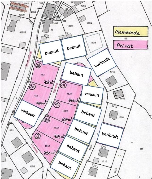 Sonniges Baugebiet Flurweg, Stand März 2021