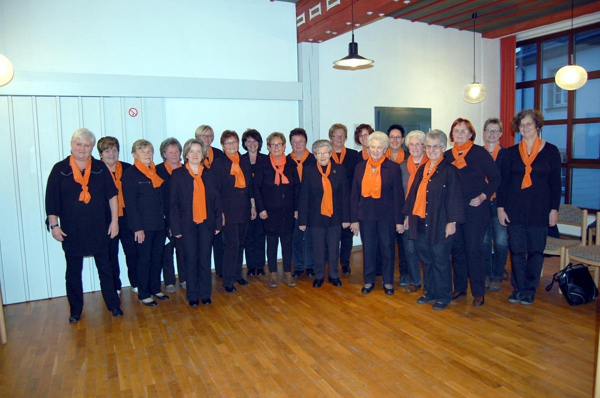 Der Frauenchor der Evangelischen Kirchengemeinde Leupoldsgrün