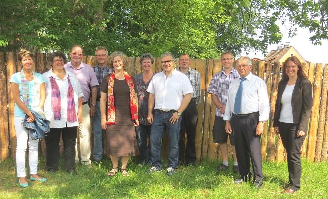 Kirchenvorstand und erweiterter Kirchenvorstand der Evangelischen Kirchengemeinde Leupoldsgrün (es fehlt Kevin Thümmling)
