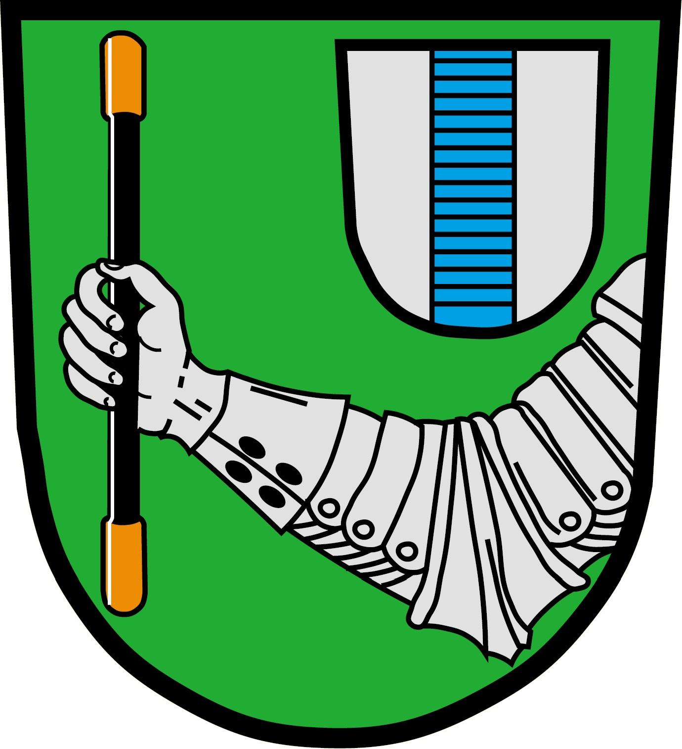 Das Wappen der Gemeinde Leupoldsgrün