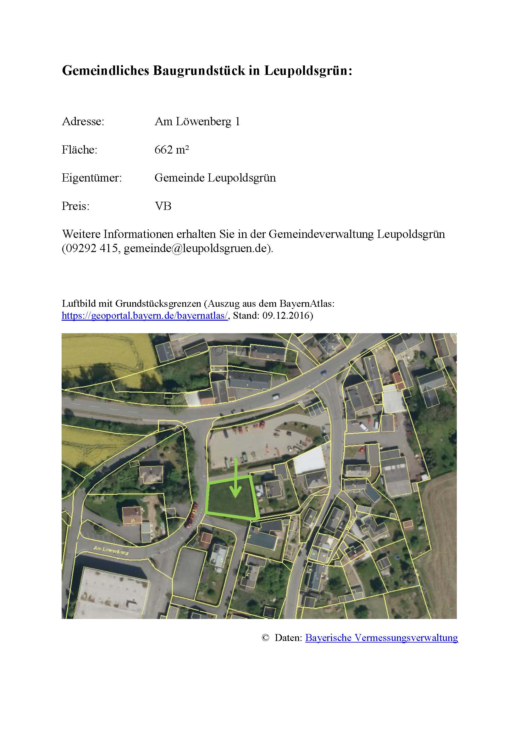Baugrundstück Am Löwenberg 1