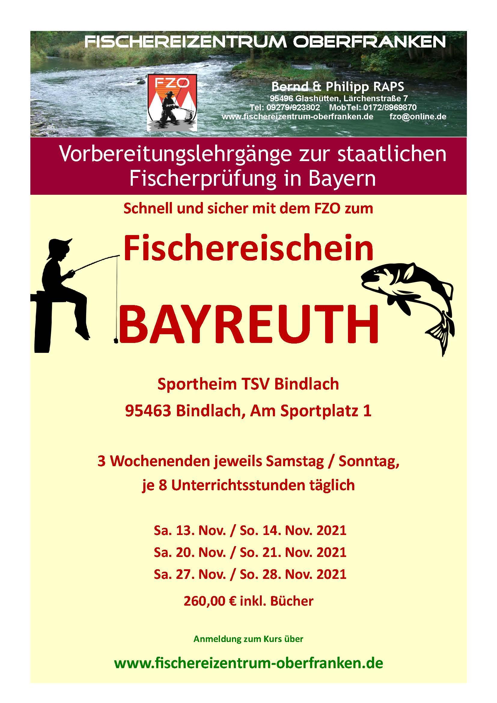 Fischereikurs für die Region Oberfranken im November 2021